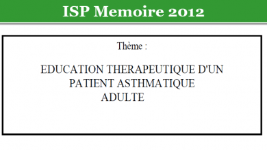 Photo of EDUCATION THERAPEUTIQUE D'UN PATIENT ASTHMATIQUE ADULTE