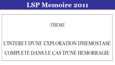 Photo of L'INTERET D'UNE EXPLORATION D'HEMOSTASE COMPLETE DANS LE CAS D'UNE HEMORRAGIE