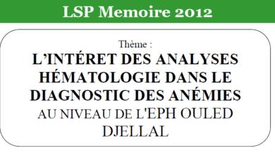 Photo of L'INTÉRET DES ANALYSES HÉMATOLOGIE DANS LE DIAGNOSTIC DES ANÉMIES