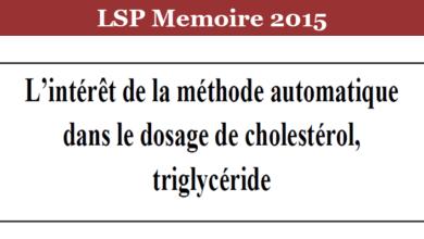 Photo of L'intérêt de la méthode automatique dans le dosage de cholestérol, triglycéride