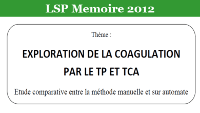 Photo of EXPLORATION DE LA COAGULATION PAR LE TP ET TCA