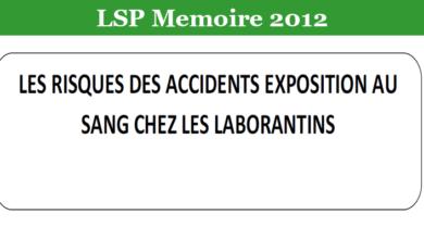Photo of LES RISQUES DES ACCIDENTS EXPOSITION AU SANG CHEZ LES LABORANTINS