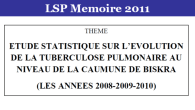 Photo of ETUDE STATISTIQUE SUR L'EVOLUTION DE LA TUBERCULOSE PULMONAIRE