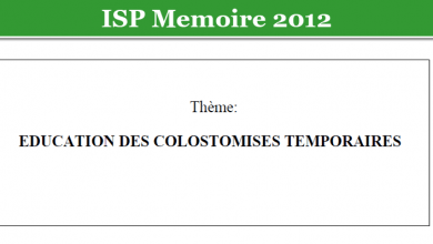 Photo of EDUCATION DES COLOSTOMISES TEMPORAIRES