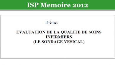 Photo of EVALUATION DE LA QUALITE DE SOINS INFIRMIERS (LE SONDAGE VESICAL)