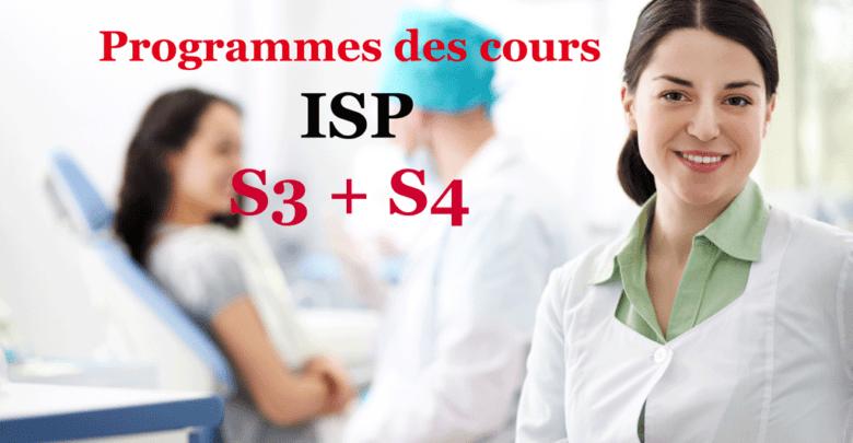 Programmes des cours: Infirmiers de santé publique S3+S4