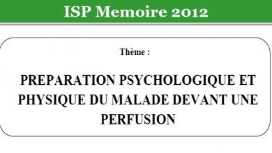 Photo of PREPARATION PSYCHOLOGIQUE ET PHYSIQUE DU MALADE DEVANT UNE PERFUSION