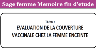 Photo of EVALUATION DE LA COUVERTURE VACCINALE CHEZ LA FEMME ENCEINTE