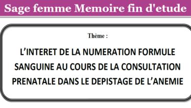 Photo of L'INTERET DE LA NUMERATION FORMULE SANGUINE AU COURS DE LA CONSULTATION PRENATALE DANS LE DEPISTAGE DE L'ANEMIE