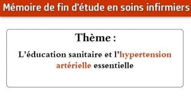 Photo of Mémoire infirmier : L'éducation sanitaire et l'hypertension artérielle essentielle