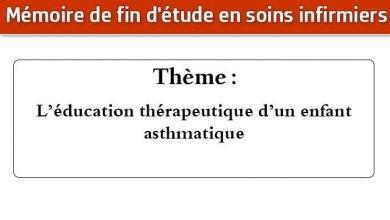 Photo of Mémoire infirmier : L'éducation thérapeutique d'un enfant asthmatique