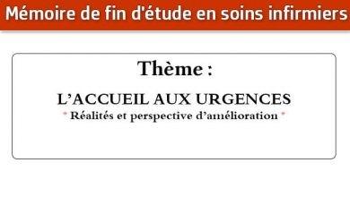 Photo of Mémoire infirmier : L'ACCUEIL AUX URGENCES