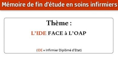 Photo of Mémoire infirmier : L'IDE FACE à L'OAP