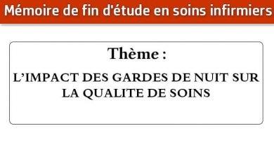 Photo of Mémoire infirmier : L'IMPACT DES GARDES DE NUIT SUR LA QUALITE DE SOINS