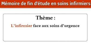 Photo of Mémoire infirmier : L'infirmier face aux soins d'urgence