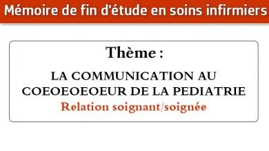 Photo of Mémoire infirmier : LA COMMUNICATION AU COEOEOEOEUR DE LA PEDIATRIE Relation (soignant/soignée)