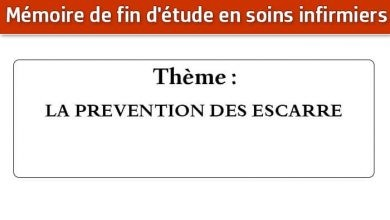 Photo of Mémoire infirmier : LA PREVENTION DES ESCARRE