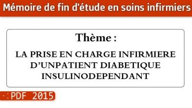 Photo of Memoire infirmier : LA PRISE EN CHARGE INFIRMIERE D'UNPATIENT DIABETIQUE INSULINODEPENDANT