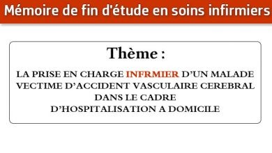 Photo of Mémoire infirmier : LA PRISE EN CHARGE INFRMIER D'UN MALADE VECTIME D'ACCIDENT VASCULAIRE CEREBRAL DANS LE CADRE D'HOSPITALISATION A DOMICILE