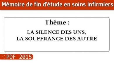 Photo of Memoire infirmier : LA SILENCE DES UNS, LA SOUFFRANCE DES AUTRE