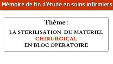 Photo of Mémoire infirmier : LA STERILISATION DU MATERIEL CHIRURGICAL EN BLOC OPERATOIRE