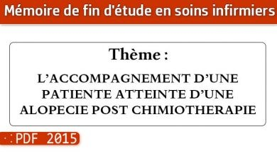 Photo of Memoire infirmier : L'ACCOMPAGNEMENT D'UNE PATIENTE ATTEINTE D'UNE ALOPECIE POST CHIMIOTHERAPIE