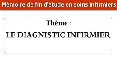 Photo of Mémoire infirmier : LE DIAGNOSTIC INFIRMIER
