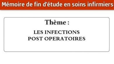 Photo of Mémoire infirmier : LES INFECTIONS POST OPERATOIRES