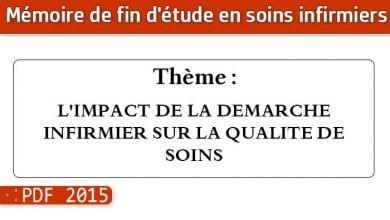 Photo of Memoire infirmiers : L'IMPACT DE LA DEMARCHE INFIRMIER SUR LA QUALITE DE SOINS