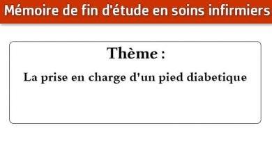 Photo of Mémoire infirmier : La prise en charge d'un pied diabetique