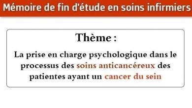 Photo of Mémoire infirmier : La prise en charge psychologique dans le processus des soins anticancéreux des patientes ayant un cancer du sein