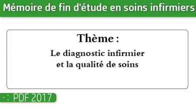 Photo of Memoire infirmiers : Le diagnostic infirmier et la qualité de soins