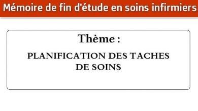 Photo of Mémoire infirmier : PLANIFICATION DES TACHES DE SOINS